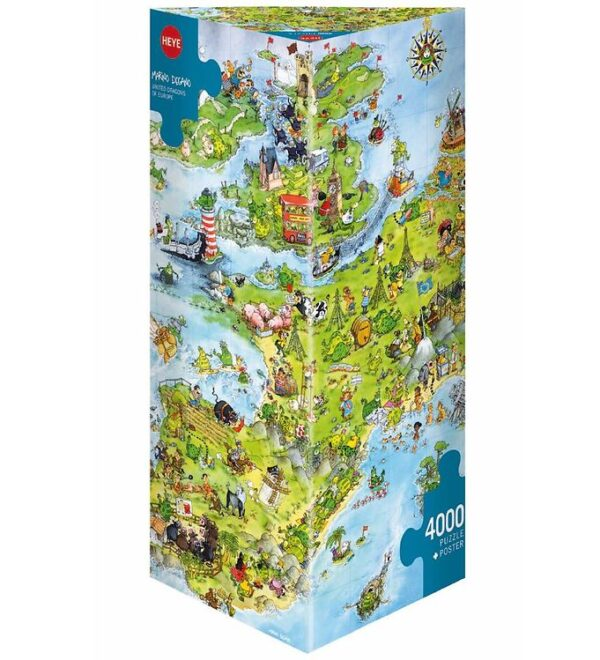 Heye Puzzle Puslespil - United Dragons of Europe - 4000 Brikker