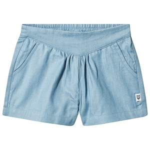 Hootkid Blue Pleated V Waist Band Short 1 years
