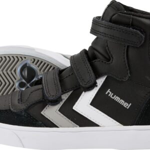 Hummel Stadil Jr Leather High Sneakers, Black/White/Grey 26