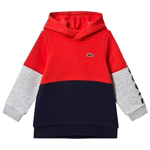 Lacoste Navy & Red Colour Block Hoodie 14 years