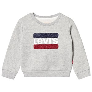 Levis Kids Grey Logo Lurex Flag Sweatshirt 14 years