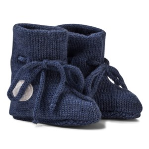 Lillelam Merino Wool Baby Slippers Basic Blue 62/68 cm