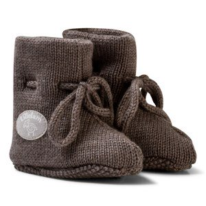 Lillelam Merino Wool Baby Slippers Basic Brown 52/56 cm