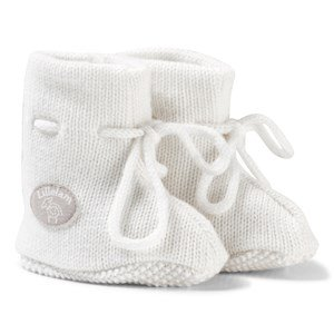 Lillelam Merino Wool Baby Slippers Basic White 52/56 cm