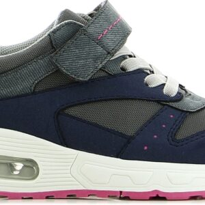 Little Champs Streets Sneakers, Dark Grey/Fuchsia 29