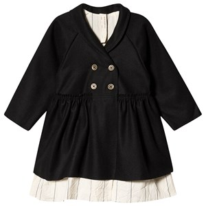 Little Creative Factory Black Tailored Coat with Stripe Lining 2 years