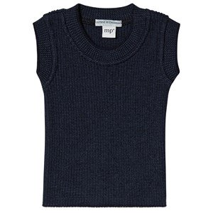 MP Knitted Vest Navy 60 (0-6 mdr)