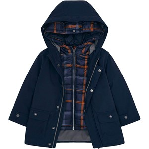 Mayoral 3 in 1 Lightweight and Hooded Coat Navy and Orange 2 years