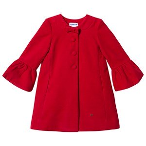 Mayoral Bow Detail Formal Coat Red 3 years