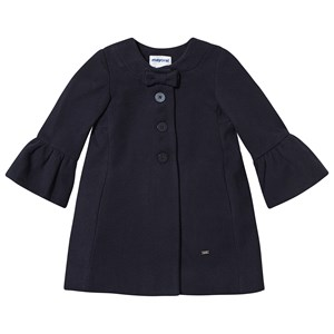Mayoral Navy Wool Bow Detail Formal Coat 2 years