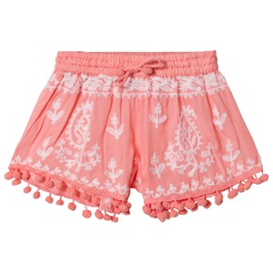 Melissa Odabash Coral Embroidered Pom Pom Shorts 10 years