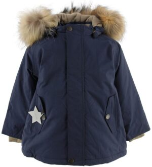 Mini A Ture Vinterjakke - Wally Fur - Peacoat Blue