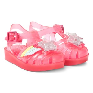 Mini Melissa Bright Pink Rainbow Sprite Jelly Sandals 19-20 (UK 4)