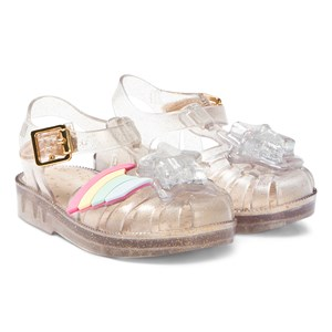 Mini Melissa Clear Glitter Rainbow Sprite Jelly Sandals 19-20 (UK 4)