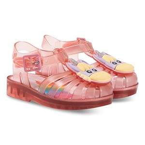 Mini Melissa Mini Possession Unicorn Jelly Sandaler Transparent Pink 19-20 (UK 4)