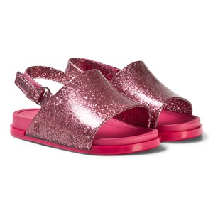 Mini Melissa Pink Glitter Beach Sandals 19-20 (UK 4)