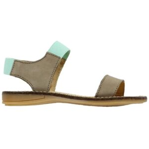 Move By Melton Sandal - Kaki/Mint