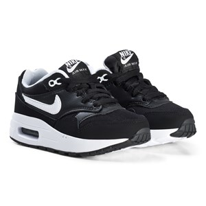 NIKE Black Air Max 1 Kids Shoes 38 (UK 5)