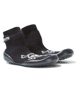 NUNUNU Skull Collegien Slippers Black 18/19