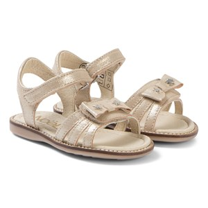 Noël Siam Bow Leather Sandals Gold 24 (UK 7)