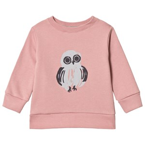 One We Like Owl Basic Sweatshirt Dark Rose 6 år (110/116 cm)