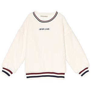 Pepe Jeans White Teddy Fur Lorena Sweatshirt 8 years