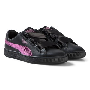 Puma Basket Heart Trainers Black/Pink 37 (UK 4)