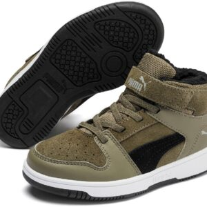 Puma Rebound Lay Up Fur PS Sneakers, Burnt Olive 28