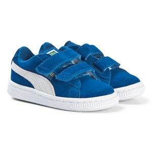 Puma Suede Infant Blue and White Trainers 20 (UK 4)