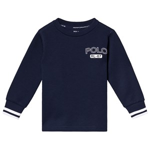 Ralph Lauren Navy Tech Fleece Polo Logo Sweatshirt 4 years