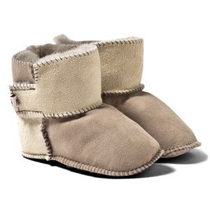 Shepherd Borås Slippers Stone/Honey 20-21