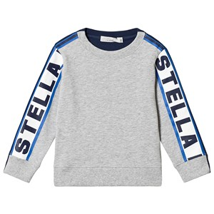 Stella McCartney Kids Grey Stella Taped Sweatshirt 14 years