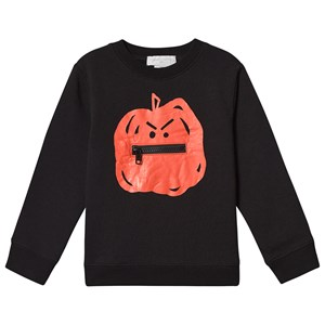 Stella McCartney Kids Pumpkin Sweatshirt Black 2 years