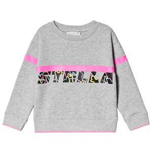 Stella McCartney Kids Sport Logo Sweatshirt Grey/Neon Print 2 years
