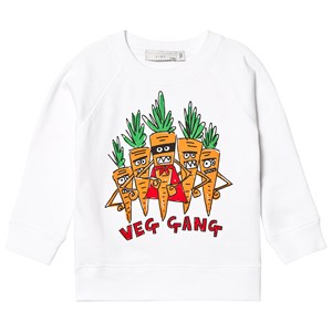 Stella McCartney Kids White Veg Gang Sweatshirt 5 years