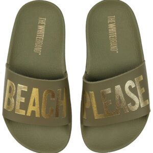 The White Brand Badesandaler - Beach Army - Army