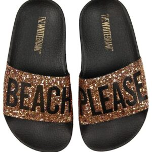 The White Brand Badesandaler - Beach Glitter - Bronze Glitter