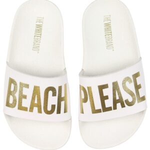 The White Brand Badesandaler - Beach White - Hvid