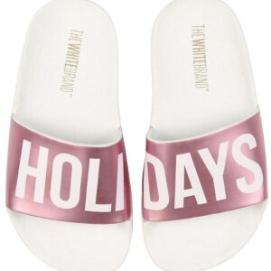 The White Brand Badesandaler - Holidays - Hvid/Metallic Pink