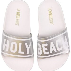 The White Brand Badesandaler - Holy Beach - Hvid/Metallic Sølv