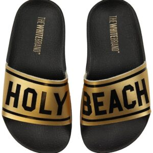 The White Brand Badesandaler - Holy Beach - Sort/Metallic Guld