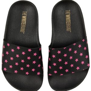 The White Brand Badesandaler - Mini Stars - Sort/Pink m. Stjerne