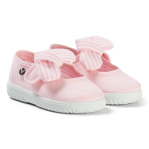 Victoria Mary Jane Canvas Sandals with a Floppy Bow Rosa 25 EU