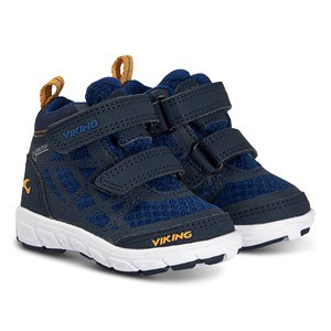 Viking Veme Vel Mid GTX Shoes Navy and Dark Blue 20 EU