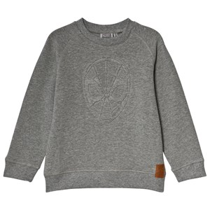 Wheat Grey Melange Spiderman Embossed Sweatshirt 6år/116cm