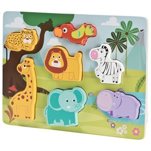 Wood Little Animal Puzzle One Size