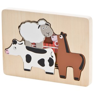 Wood Little Farm Puzzle One Size