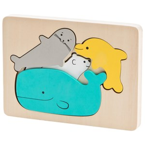 Wood Little Ocean Puzzle One Size