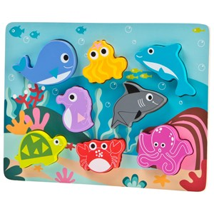 Wood Little Sea animal puzzle One Size