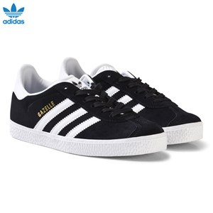 adidas Originals Black and White Gazelle Kids Trainers 28 (UK 10)